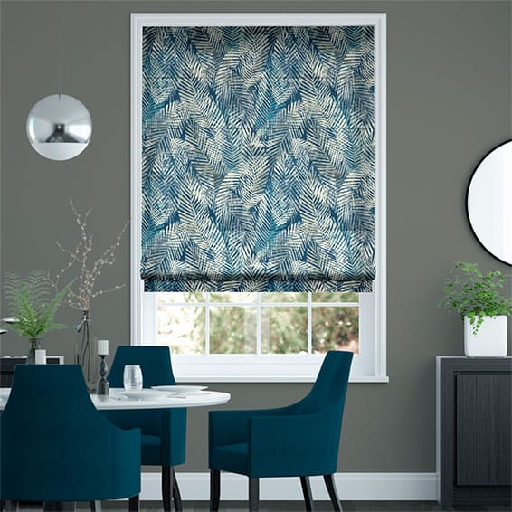 Shadow Leaf Linen Admiral Roman Blind