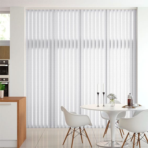 Shale White Vertical Blind