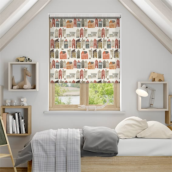 Sherwood Summer Berry Roller Blind