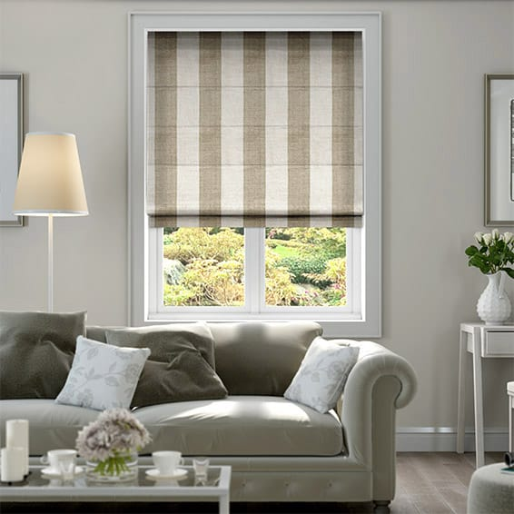 Shoreham Coffee & Cream Roman Blind