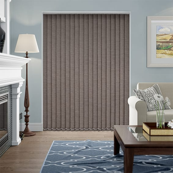 Shot Silk Mink Blackout Vertical Blind