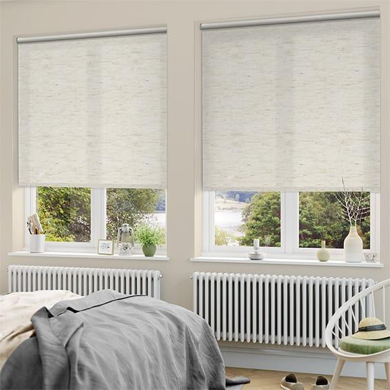leaf linen roman pattern cotton p print creative banana blinds linencotton