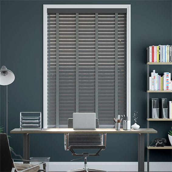 Slate & Dusk Wooden Blind - 50mm Slat