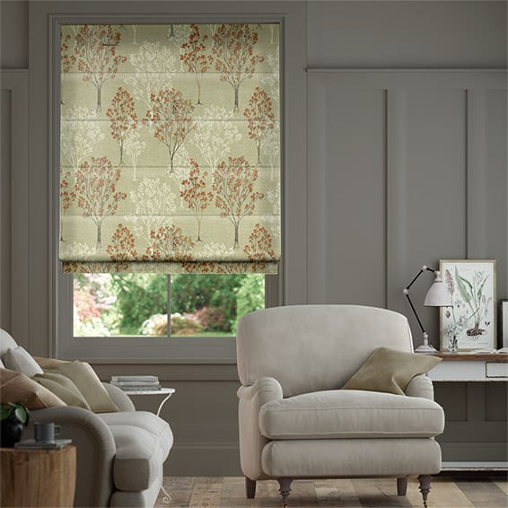 Slender Forest Velvet Autumn Roman Blind