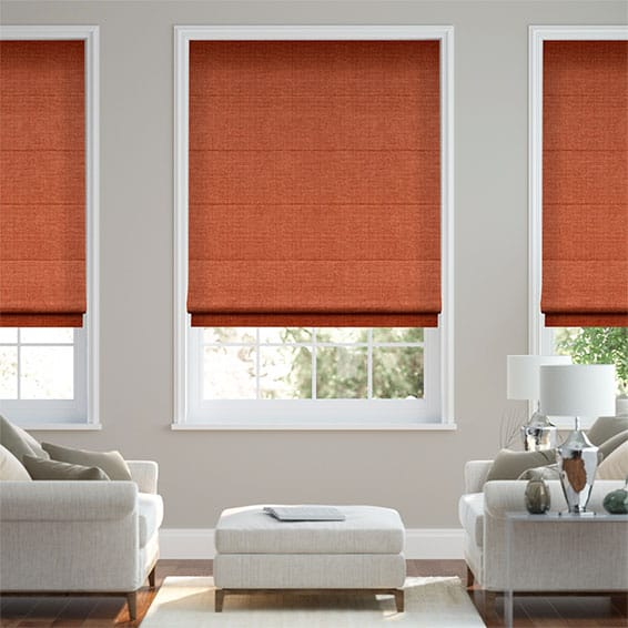 Smooth Sisal Burnt Ochre Roman Blind