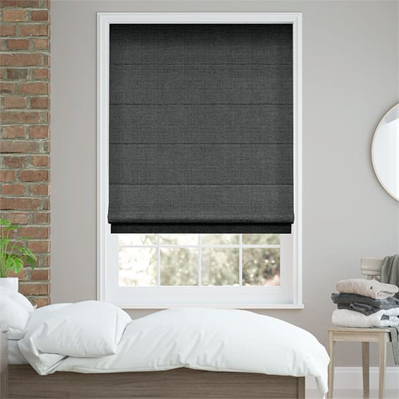 Smooth Sisal Graphite Roman Blind