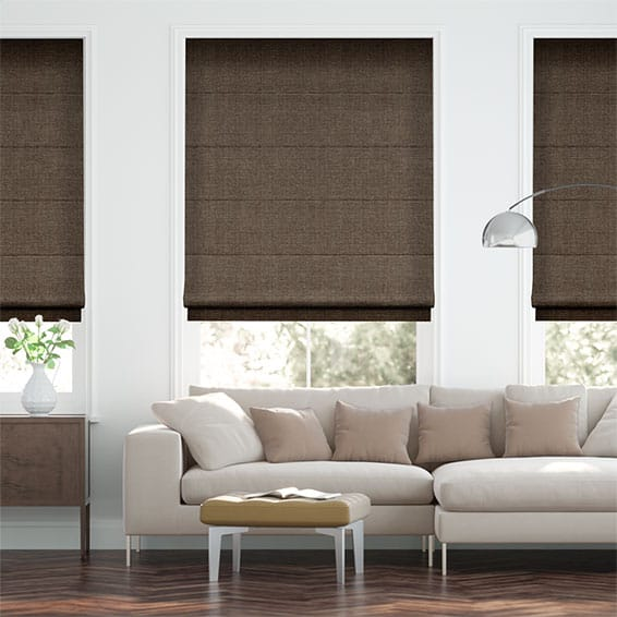 Smooth Sisal Warm Cocoa Roman Blind