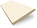Soft Cream Faux Wood Blind - 50mm Slat slat image
