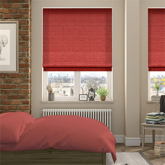 Sophie Strawberry Roman Blind