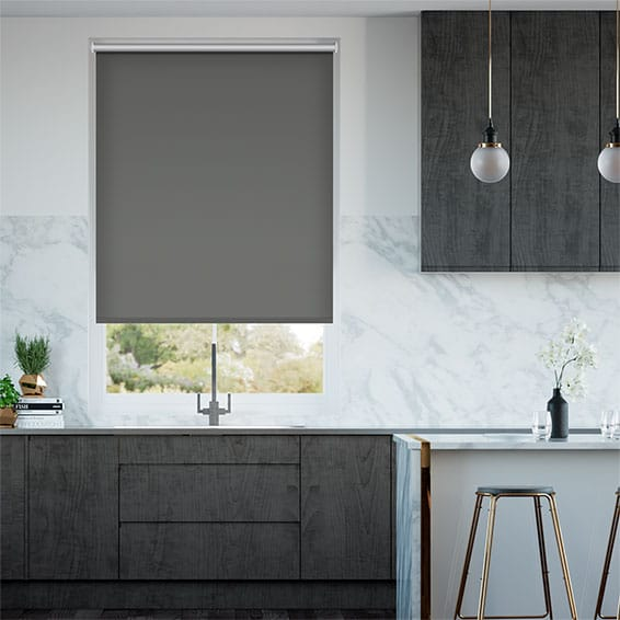 Chromium Slate Energy Saving Roller Blind