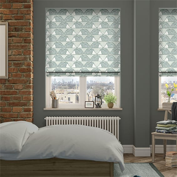 Spike Dove Grey Roman Blind
