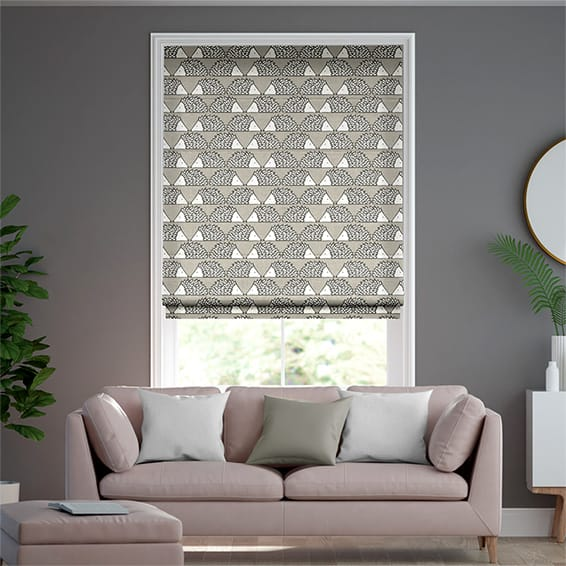 Spike Taupe Roman Blind