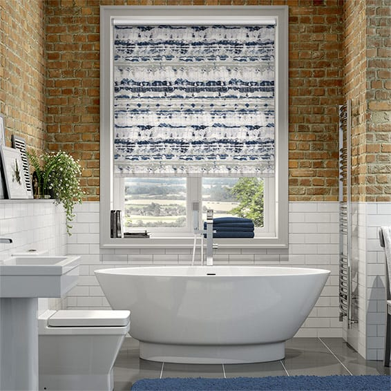 Splash Aguas Splash Blue Roller Blind