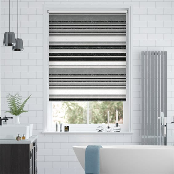 Splash Calcutta Stripe Slate Roller Blind