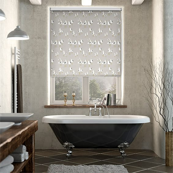 Splash Blackout Gulls Pebble Roller Blind
