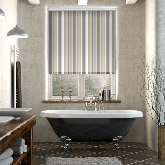 Splash Hampton Stripe Naturale Roller Blind