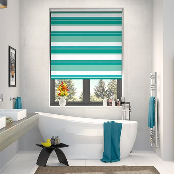 Splash Blackout Letterbox Aqua Roller Blind