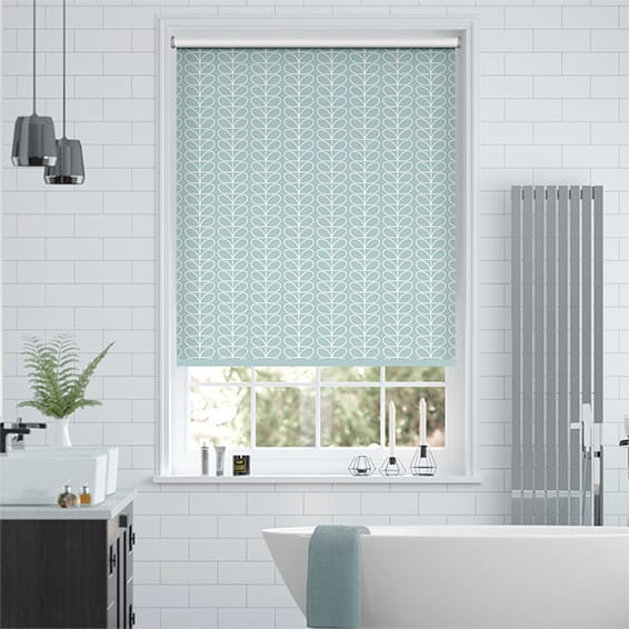 Splash Blackout Linear Stem Duck Egg Roller Blind