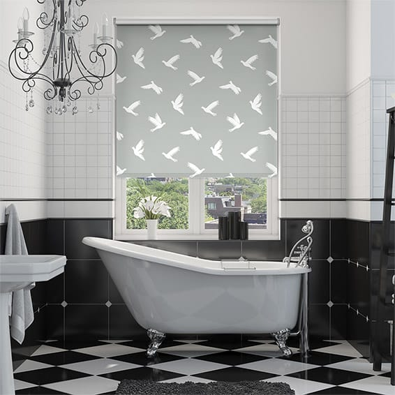 Splash Blackout Paper Doves Dove Roller Blind