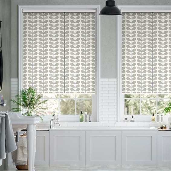 Splash Blackout Scribble Stem Grey Roller Blind