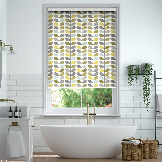 Splash Blackout Scribble Stem Seagrass Roller Blind