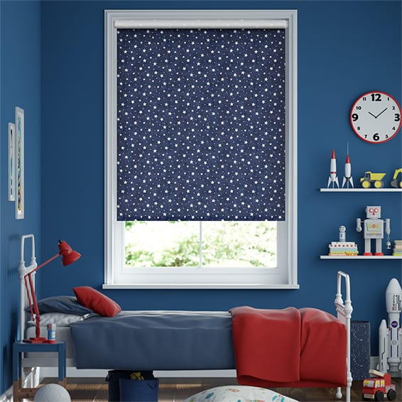 Electric Starry Skies Blue Roller Blind