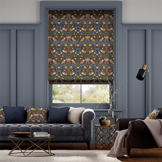 William Morris Strawberry Thief Jewel Roman Blind