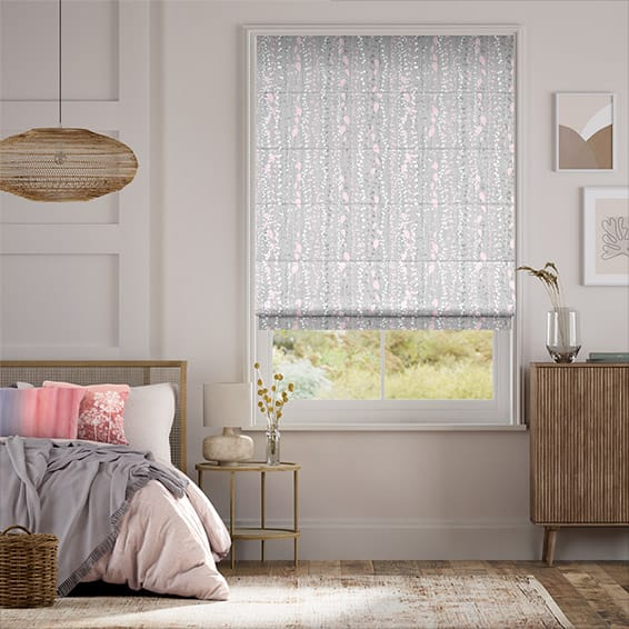 String of Hearts Blush  Roman Blind