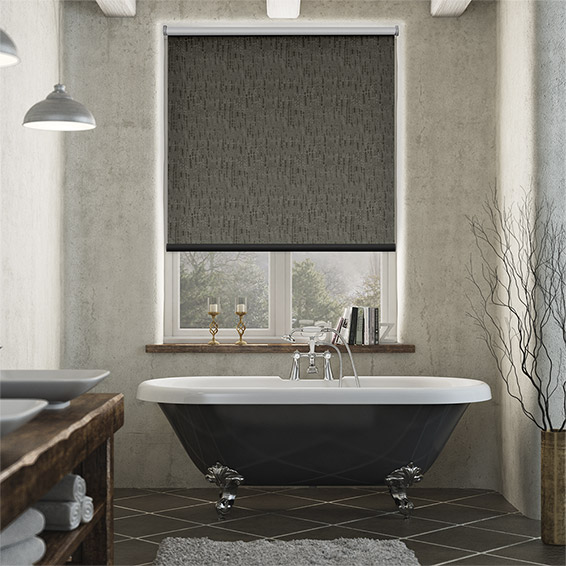 Stucco Cocoa Blackout Roller Blind