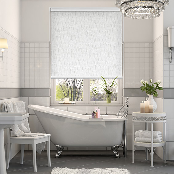 Stucco Pure White Blackout Roller Blind