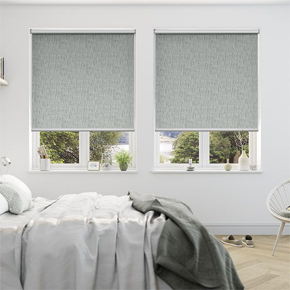 Stucco Silver Blackout Roller Blind