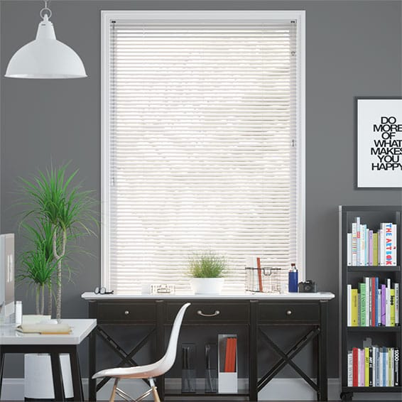 Aluminium Venetian Blinds, Gloss White Aluminium Blinds 2go™