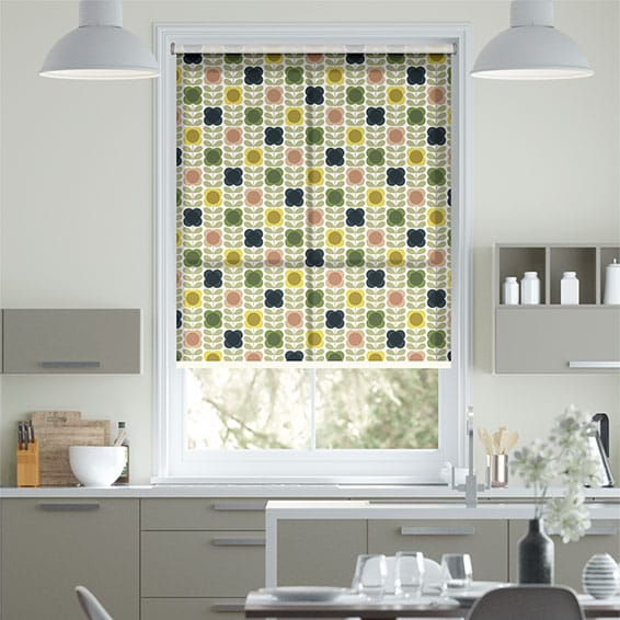 Summer Flower Stem Multi Roller Blind