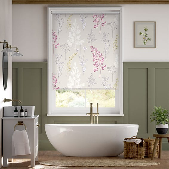 Summer Meadow Magenta Roller Blind