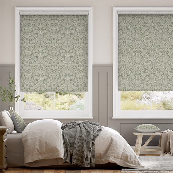 William Morris Sunflower Soft Green Roller Blind