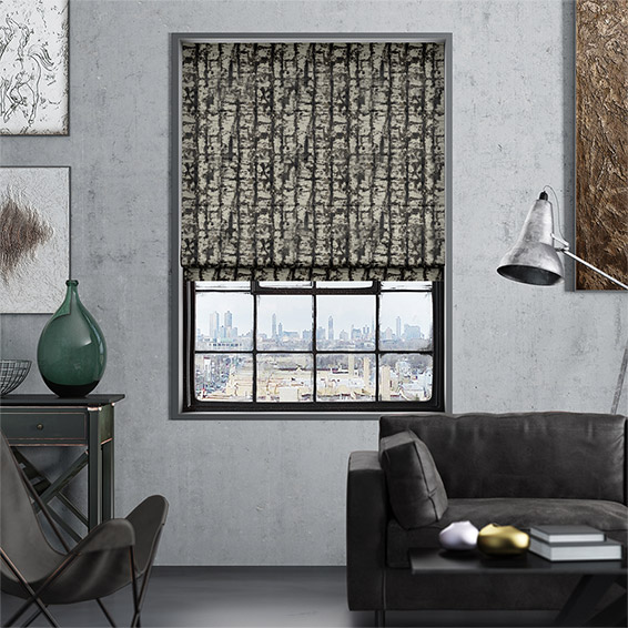 Sussex Charcoal Roman Blind