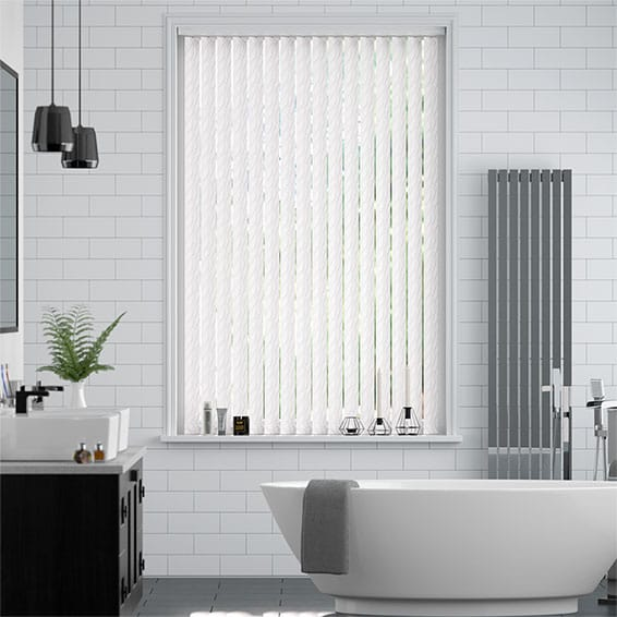 Talbot Pearly White Vertical Blind