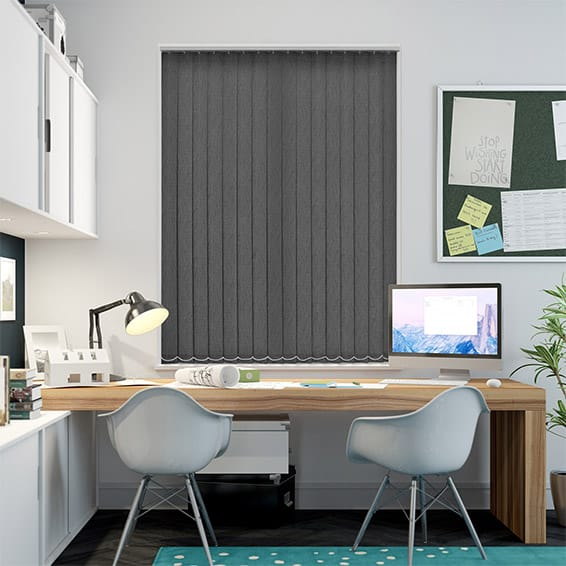 Tessuta Pewter Grey Vertical Blind