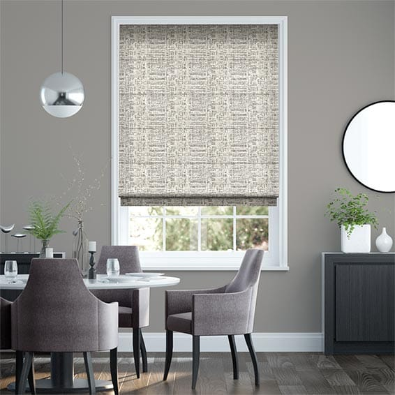 Thalia White Gold Roman Blind