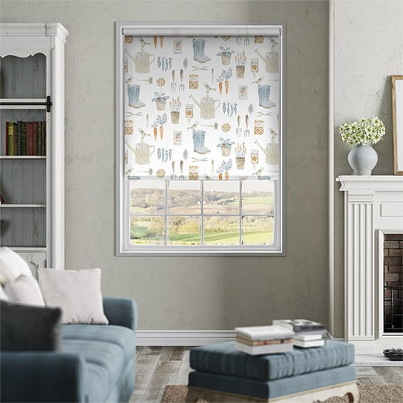 The Gardener Powder Blue Roller Blind