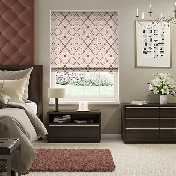 Thebes Poppy Roman Blind