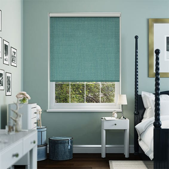 Thermal Luxe Dimout Aqua Roller Blind