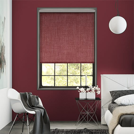 Thermal Luxe Dimout Coral Red Roller Blind