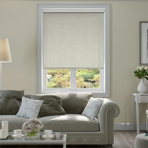 Thermal Luxe Pebble Blackout Roller Blind