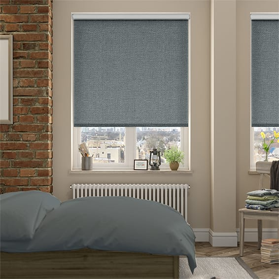 Thermal Luxe Steel Blackout Roller Blind