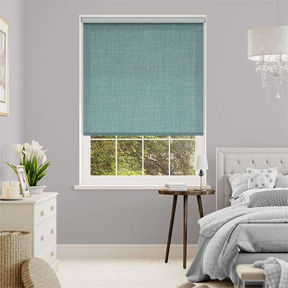 Thermal Luxe Dimout Teal Roller Blind