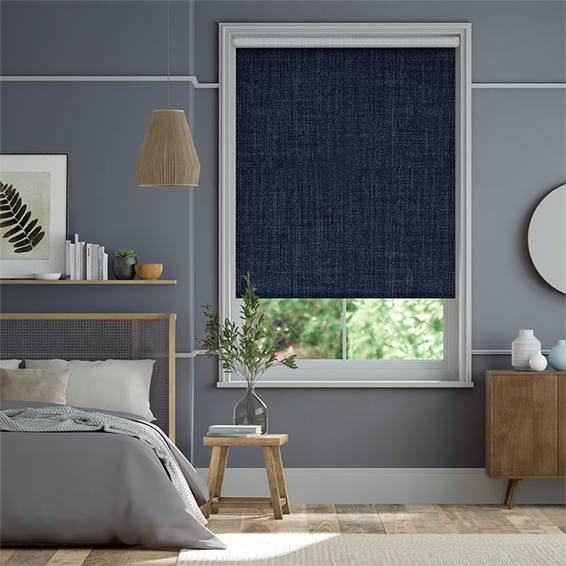 Thermal Luxe Dimout Twilight Blue Roller Blind