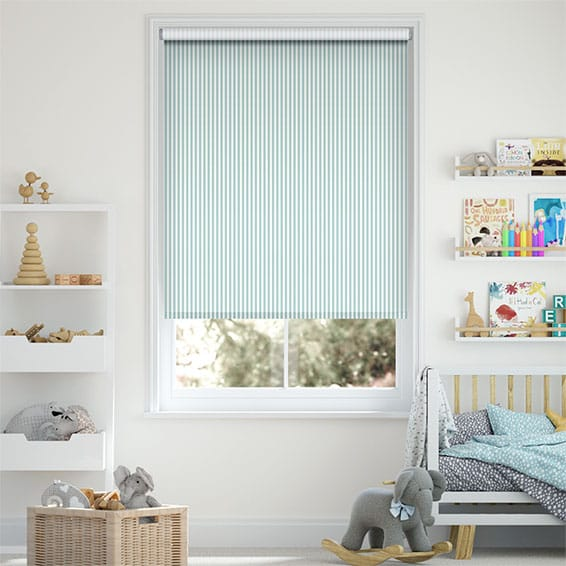 Tiger Stripe Aqua Roller Blind