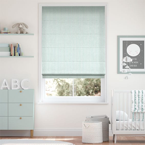 Tiger Stripe Aqua Roman Blind