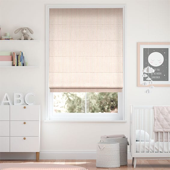 Tiger Stripe Blush Roman Blind